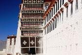 Whitewashed walls of the Potala. Lhasa-Tibet. 1383 — Stock Photo
