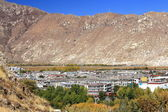 View to the NW.from Potala Palace over Lhasa-Tibet. 1404 — Stock Photo