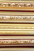 Gilded-wooden painting frames. Lhasa-Tibet. 1441 — Stock Photo