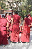 Group of monks debating in the Sera monastery-Tibet. 1288 — Stock Photo