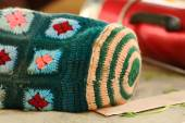 Woolen thermos bag. Gyantse-Tibet. 1583 — Stock Photo