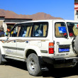 Постер, плакат: Four wheel drive car at stop Gepelwater Mill area Tibet 1662