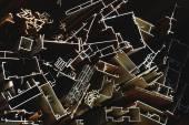 Metallic profiles in hardware shop. Shigatse-Tibet. 1676 — Stock Photo