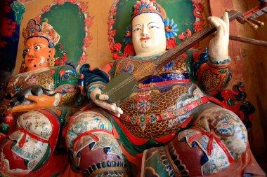 Guardian kings-entry of Tsuklakhang temple. Gyantse-Tibet. 1630