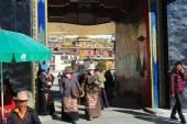 Gateway to the Tashilhunpo monastery. Shigatse-Tibet. 1682 — Stock Photo