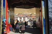 Doorway to the Tashilhunpo monastery. Shigatse-Tibet. 1683 — Stock Photo