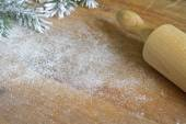 Abstract christmas food backing and cooking background — Stock Photo