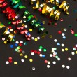 Colorful streamer and confetti. party decoration — Stock Photo #52409145