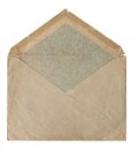 Retro style post mail envelope isolated on white — Stock Photo