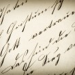 Vintage handwriting. antique manuscript. aged paper — Stock Photo #52411057