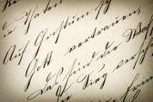 Vintage handwriting. antique manuscript. aged paper — Stock Photo