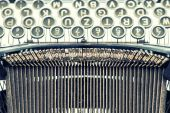 Antique typewriter. Vintage object. Retro style picture — Stock Photo