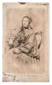 Antique portrait of senior woman. original vintage photo — Stock Photo