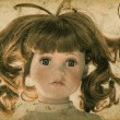 Antique doll. Vintage toy. Retro toned picture — Stock Photo #54094723