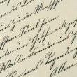 Vintage handwriting. antique manuscript. aged paper — Stock Photo #54095329