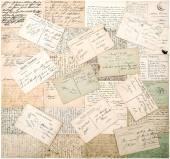 Vintage postcards. handwritten undefined texts — Stock Photo