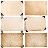 Old cardboard with corner, photo card, aged paper isolated — Stock Photo