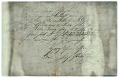 Old letter with handwritten text. grunge paper background — Stock Photo