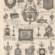 Antique victorian objects and collectibles. old newspaper. retro — 图库照片 #56532051