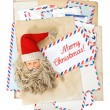 Vintage air mail envelopes. Season greetings. Merry Christmas — Stock Photo #56538207