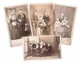 Vintage family and wedding photos circa 1880-1900 — Foto Stock