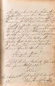 Vintage handwriting. manuscript. grunge paper background — Foto de Stock