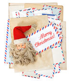 Vintage air mail envelopes. Season greetings. Merry Christmas — Stock Photo