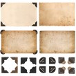 Old cardboards, photo cards, frames and corners isolated on whit — Stock Photo #56540747