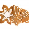 Christmas gingerbread cookies isolated on white background — Stock Photo #57294031