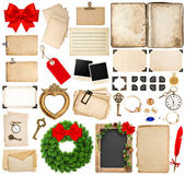 Scrapbooking elements for christmas holidays greetings — Stock Photo