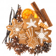 Gingerbread cookies and spices. christmas food ingredients — Stock Photo #57301263