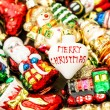 Christmas tree decorations baubles, toys and colorful ornaments — Stock Photo #58875805