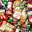 Christmas baubles, toys and garlands. colorful ornaments — Stock Photo #58876017