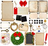 Scrapbook elements for christmas holidays greetings — Stock Photo