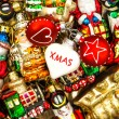 Christmas baubles, toys and ornaments. colorful decorations — Stock Photo #58880115