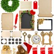 Christmas decorations, ornaments and gifts. paper and frames iso — Stockfoto #58958431