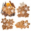 Gingerbread cookies and spices. christmas food ingredients — Stock Photo #58958443