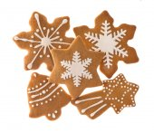 Traditional christmas sweet food gingerbread cookies — Stock Photo