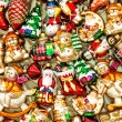 Christmas tree decorations baubles, toys and colorful ornaments — Stock Photo #58961673