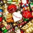 Christmas baubles, toys and ornaments. colorful decorations — Stock Photo #58978667