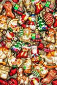 Christmas tree decorations baubles, toys and colorful ornaments — Stock Photo