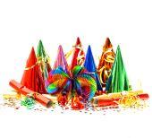 Festive decorations isolated — Stock Photo
