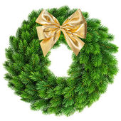 Christmas wreath with bow — Stock Photo