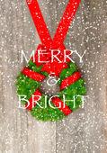 Christmas wreath background — Stock Photo