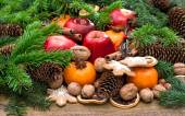 Festive food background — Stock Photo