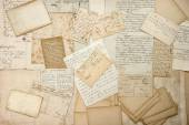 Old letters, handwritings, vintage postcards, ephemera — Stock Photo