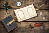 Antique writing accessories — Stock Photo