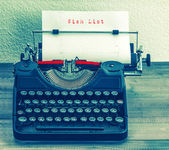 Old typewriter with text — Stock Photo