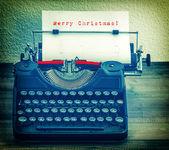 Typewriter with Wish List — Stock Photo