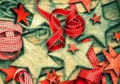 Kerstmis houten sterren — Stockfoto